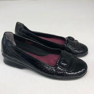 Aerosoles Raspberry Black Patent Leather Flats